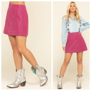 NWT Free People Days in the Sun Suede Mini Skirt 0